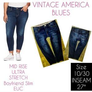 Vintage America Jeans Size 10 Slim Boyfriend Crop